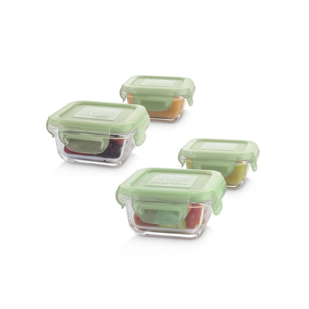 Set 4 herméticos de vidrio Natursquare