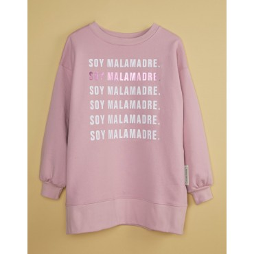 COLECCIÓN BASE. SUDADERA NUDE 'SOY MALAMADRE'