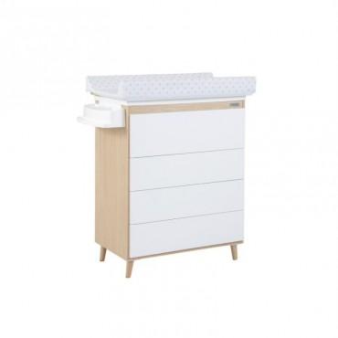 Mueble bañera / cambiador B-1921 NATURE de MICUNA Blanco