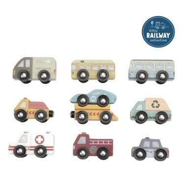 LITTLE DUTCH Set de vehículos de madera