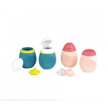 BÉABA cantimploras reutilizables BabySqueez' 2 en 1 + Squeez' Portion
