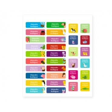 Pack de 32 etiquetas termoadhesivas personalizadas
