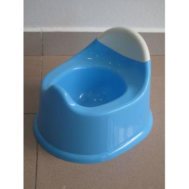 Orinal plástico azu/blanco