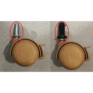 Kit de 4 tacos para rueda de cuna