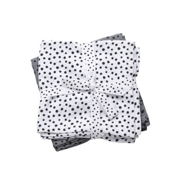 Pack de 2 muselinas Happy Dots 70x70cm de DONE BY DEER (Varios colores)