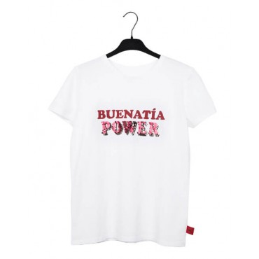 "CAMISETA SOLIDARIA BLANCA ""BUENATÍA POWER"""