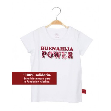 "CAMISETA SOLIDARIA BLANCA ""BUENAHIJA POWER"""