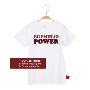 "CAMISETA SOLIDARIA BLANCA ""BUENAHIJO POWER"""
